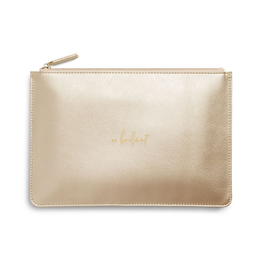 Katie Loxton Perfect Pouch:  Be Brilliant - Metallic Gold