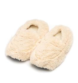 Warmies® Plush Body Slippers Cream<br /> Warmies® Plush Body Slippers Cream