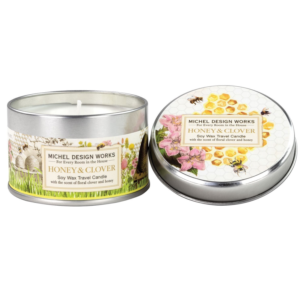Michel Design Works - Honey & Clover Travel Candle