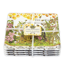 Michel Design Works - Melamine serveware Canape Plate Set/Honey & Clover
