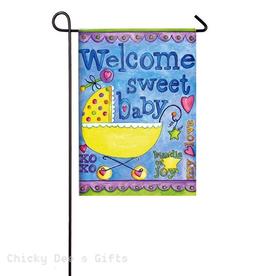 Garden Flag - Welcome Sweet Baby