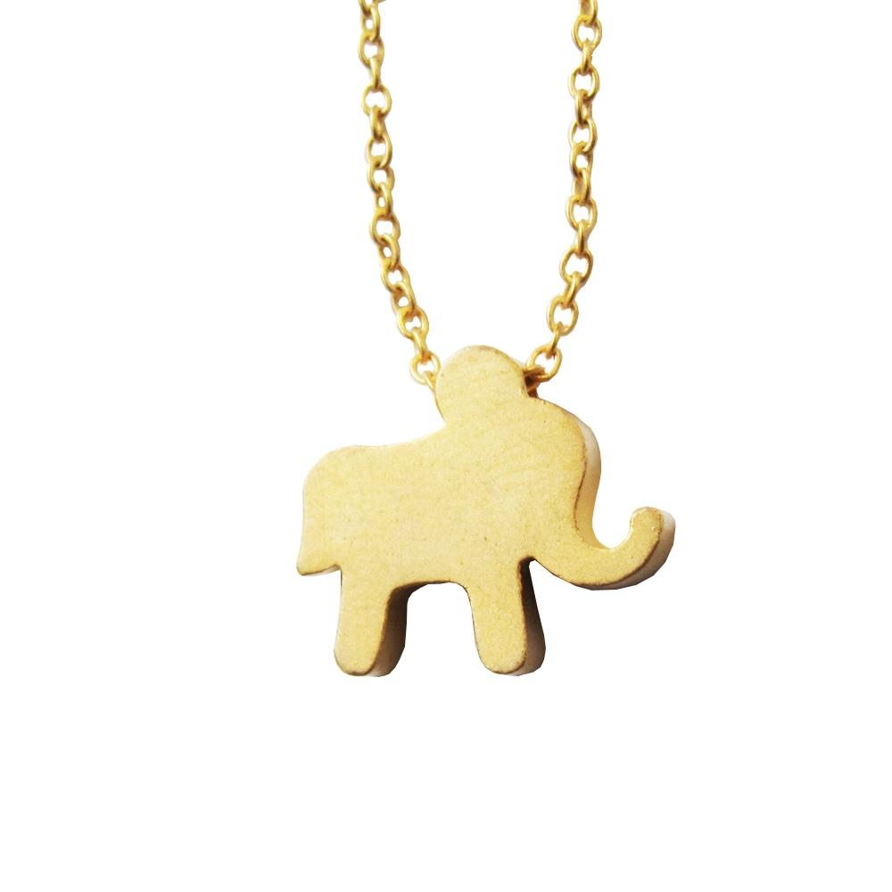 Rebecca Tiny Elephant Necklace- Gold