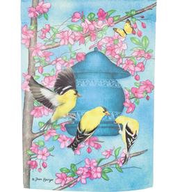 Garden Flag - Spring Finches