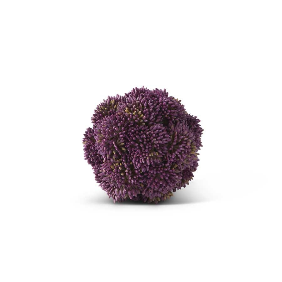 4 Inch Purple Sedum Ball