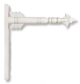 "17.5"" White Wood Arrow Holder"