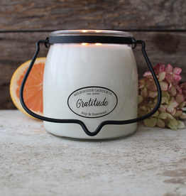 Butter Jar 16 oz:  Gratitude
