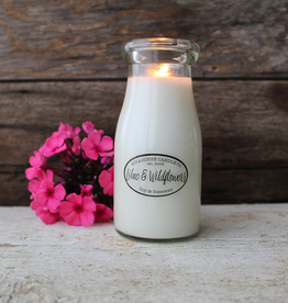 Milk Bottle:  Lilac & Wildflowers