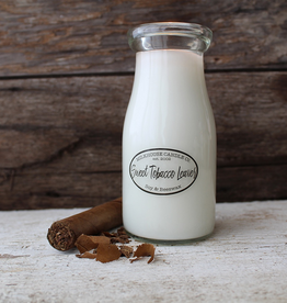 Milk Bottle:  Sweet Tobacco Leaves