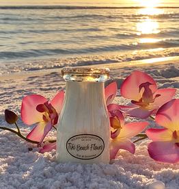 Milk Bottle:  Tiki Beach Flower
