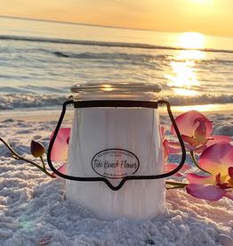 Butter Jar 22 oz:  Tiki Beach Flower