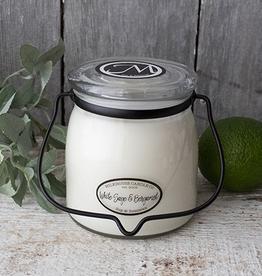 Butter Jar 16 oz:  White Sage & Bergamot
