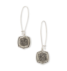 Kendra Scott - Davis Drop Earrings in Platinum Drusy