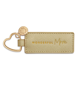 Katie Loxton Sentiment Heart Keyring - Wonderful Mom - Gold