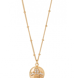 Spartina Sea La Vie Necklace Locket  Fleur de Lis