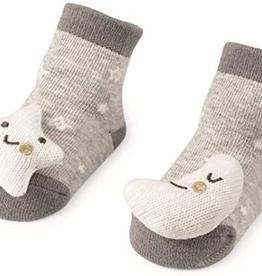 Mud Pie Moon and Star Rattle Toe Socks