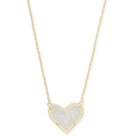 Kendra Scott Ari Short Necklace Irid Drusy Gold
