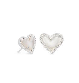 Kendra Scott - Ari Heart Studs in Ivory Mother-of-Pearl