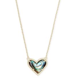 Kendra Scott - Ari Heart Pendant in Abalone Shell