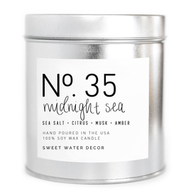 Midnight Sea - Soy Silver Tin Candle