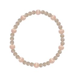 enewton Labradorite Sincerity Pattern 6mm Bead Bracelet - Dignity Gold