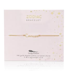 Zodiac Cord Bracelet Gold - Cancer