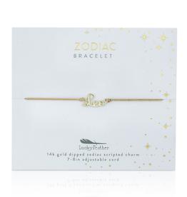 Zodiac Cord Bracelet Gold - Leo