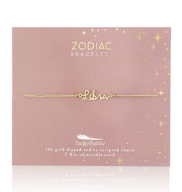 Zodiac Cord Bracelet Gold - Libra