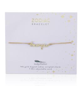 Zodiac Cord Bracelet Gold - Scorpio