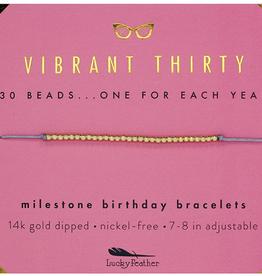 Milestone Birthday Bracelet Gold - Thirty
