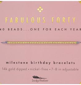 Milestone Birthday Bracelet Gold - Forty