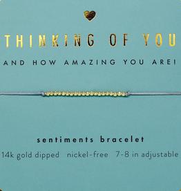 Sentiments Bracelet Gold - Thinking of You
