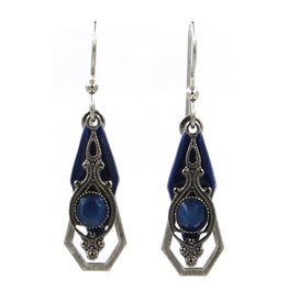 Silver with Blue Catseye