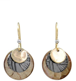 Silver Forest Layered Discs with Bronze