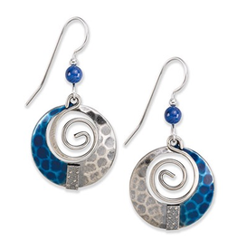 Silver Fores Blue Spiral with Bead