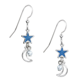 Silver Forest Silver Moon with Blue Star