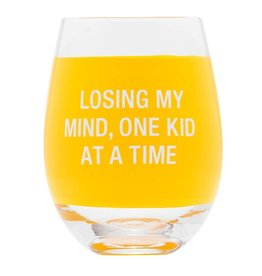 About Face Designs Losing My Mind Stemless Wine Glass