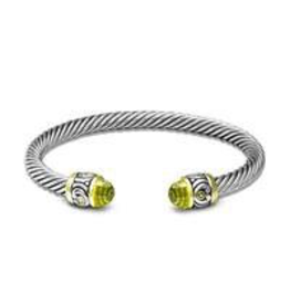 John Medeiros -Nouveau Small Wire Cuff Bracelet/Peridot
