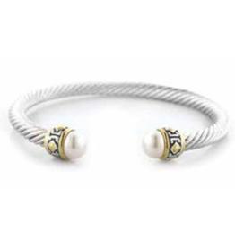 John Medeiros White Pearl Small Rope Bracelet