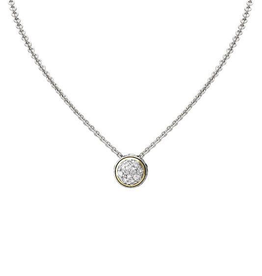 John Medeiros - Oval Link Collection Lanna Solitare Pave Necklace