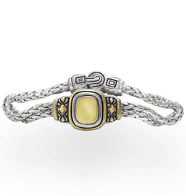 "John Medeiros - Nouveau Gold Dome 6.5"" Double Strand Bracelet"