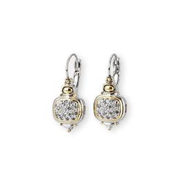 John Medeiros -Nouveau CZ French Wire Earrings
