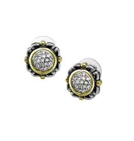 John Medeiros - Nouveau Collection Simplicity Pave Round Earrings
