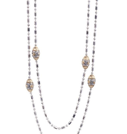 "John Medeiros 38"" Beaded Long Strand Necklace"