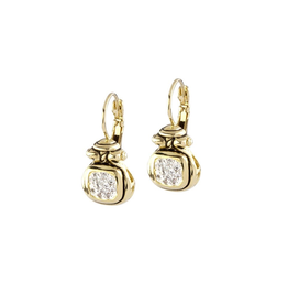 John Medeiros - Anvil Gold & Pave French Wire Earrings<br /> John Medeiros - Anvil Gold & Pave French Wire Earrings<br /> <br /> French Wire Earrings