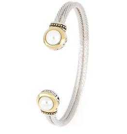 John Medeiros - Perola White Seashell Pearl Cuff Bracelet
