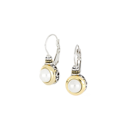 John Medeiros - Perola White Seashell Pearl French Wire Earrings