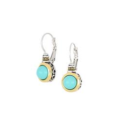 John Medeiros - Perola Turquoise French Wire Earring