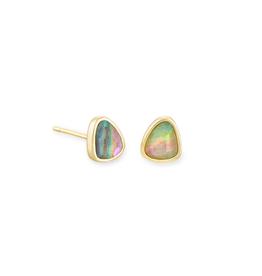 Kendra Scott Ivy Stud Earring Gold Lilac Abalone