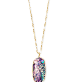 Kendra Scott Faceted Reid Necklace Gold Lilac Abalone