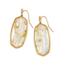 Kendra Scott - Elle Drop Earrings In White Abalone